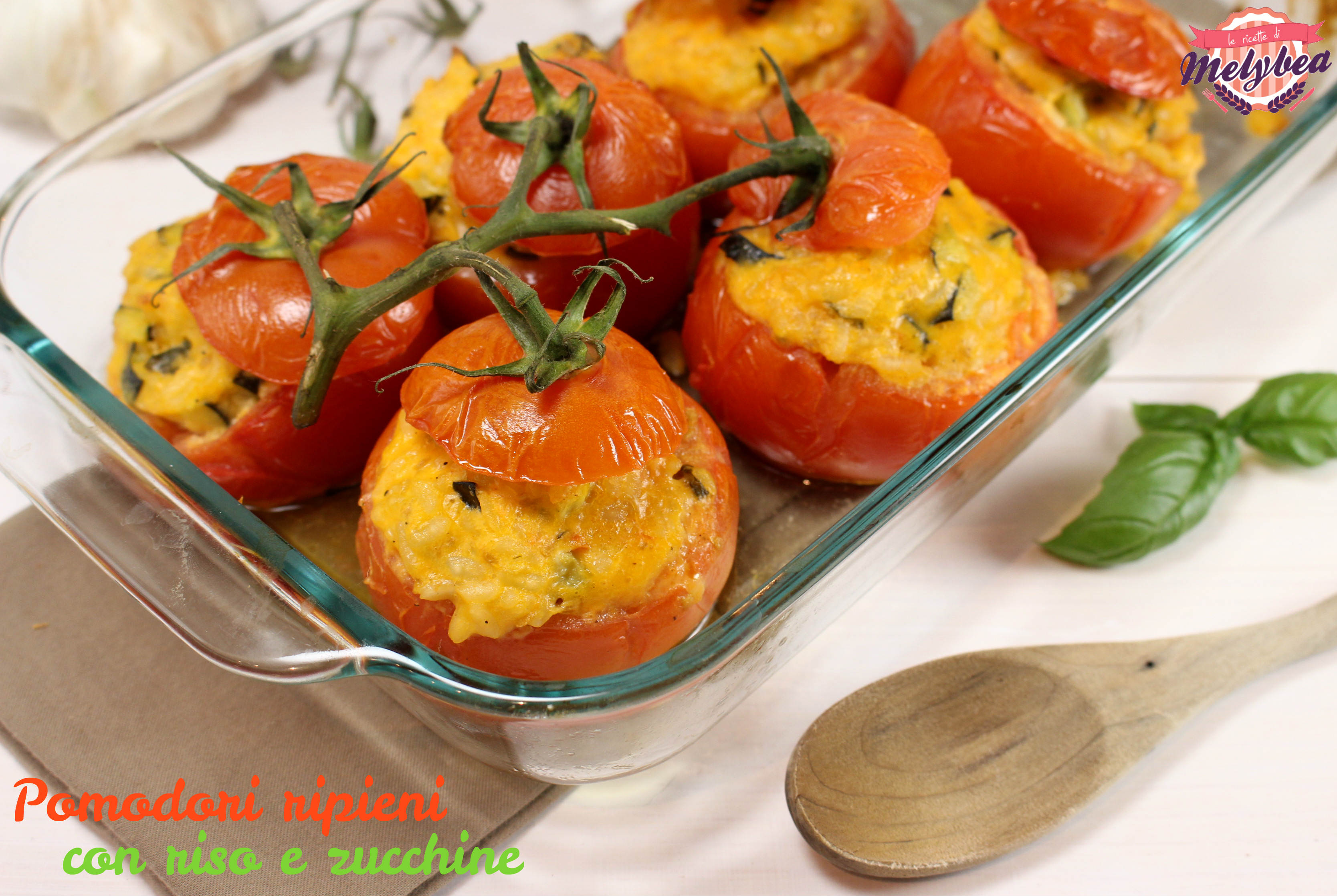 pomodori ripieni con riso e zucchine