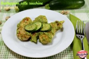 scaloppine alle zucchine e pistacchi