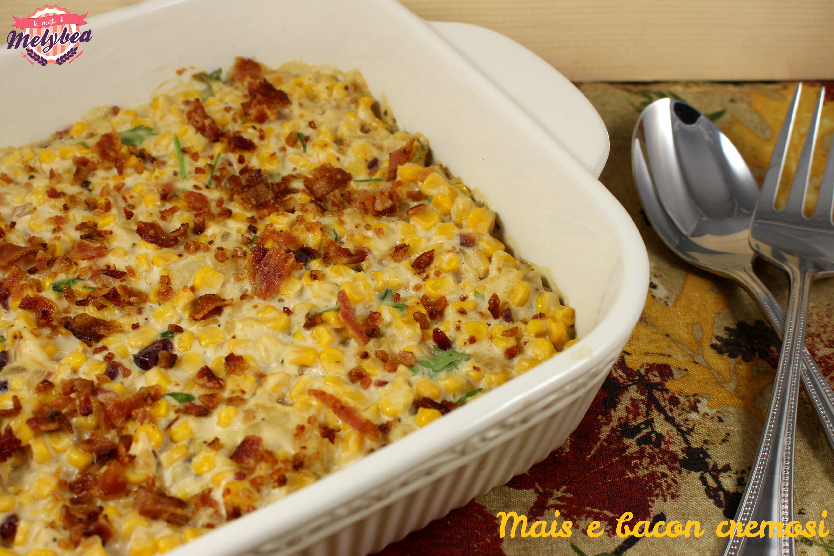 Mais e bacon cremosi - Corn and bacon casserole