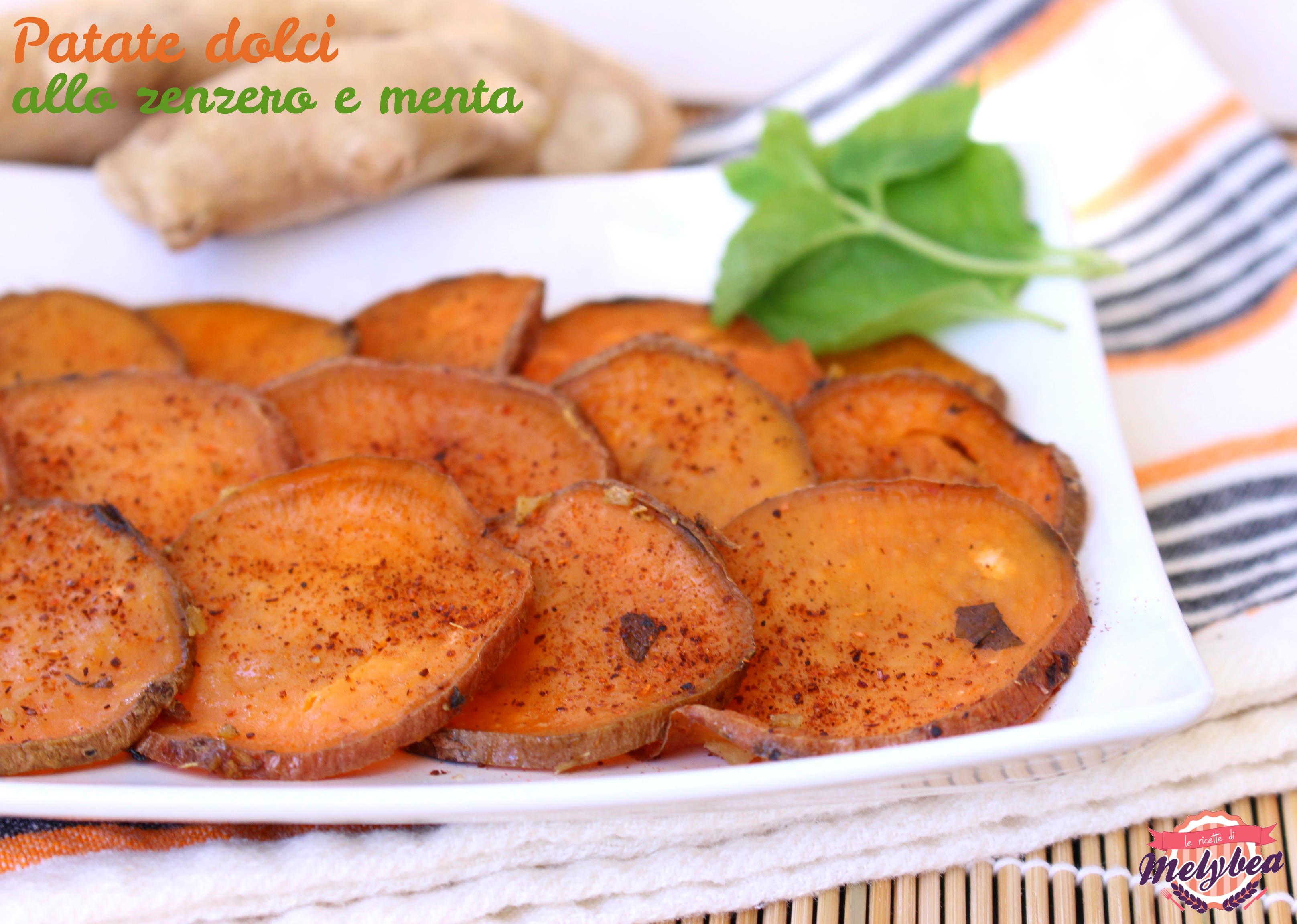 patate dolci allo zenzero e menta