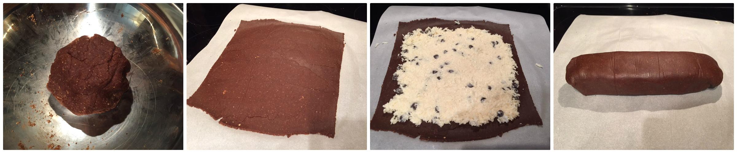 rotolo al cocco e cacao