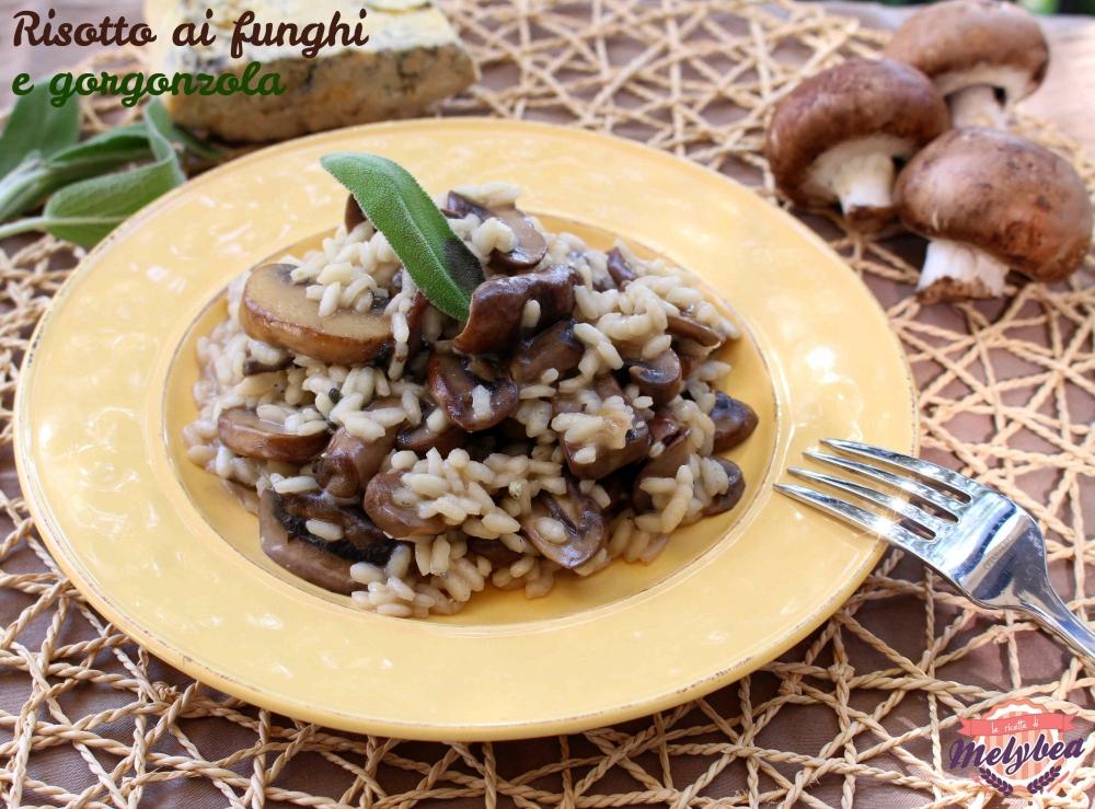 risotto ai funghi e gorgonzola