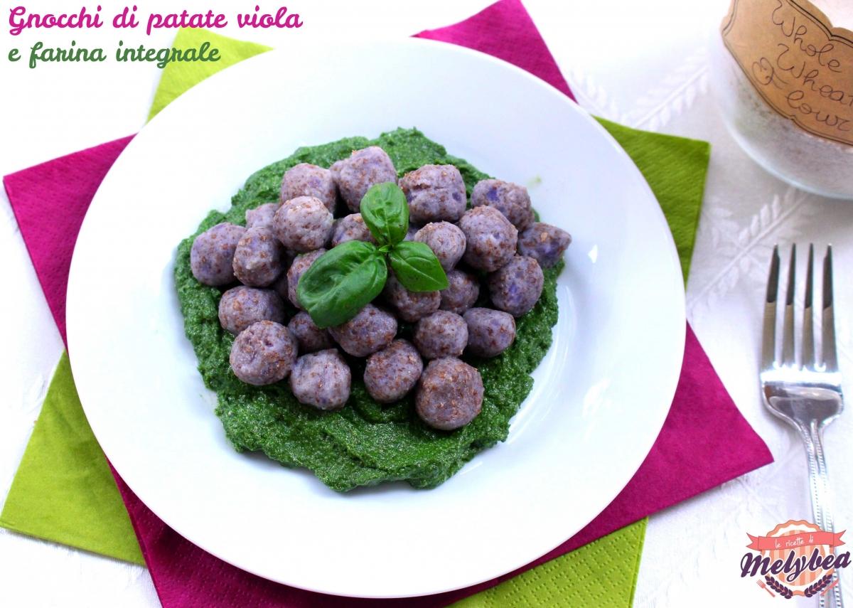 gnocchi di patate viola e farina integrale
