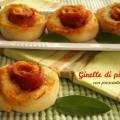 Girelle di pizza con prosciutto e grana