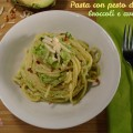 Pasta con pesto di broccoli e avocado