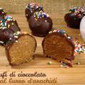 Tartufi di cioccolato al burro d'arachidi