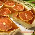 Crostata alle arance e crema pasticcera