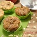 Crumbled muffin alle mele e cioccolato bianco