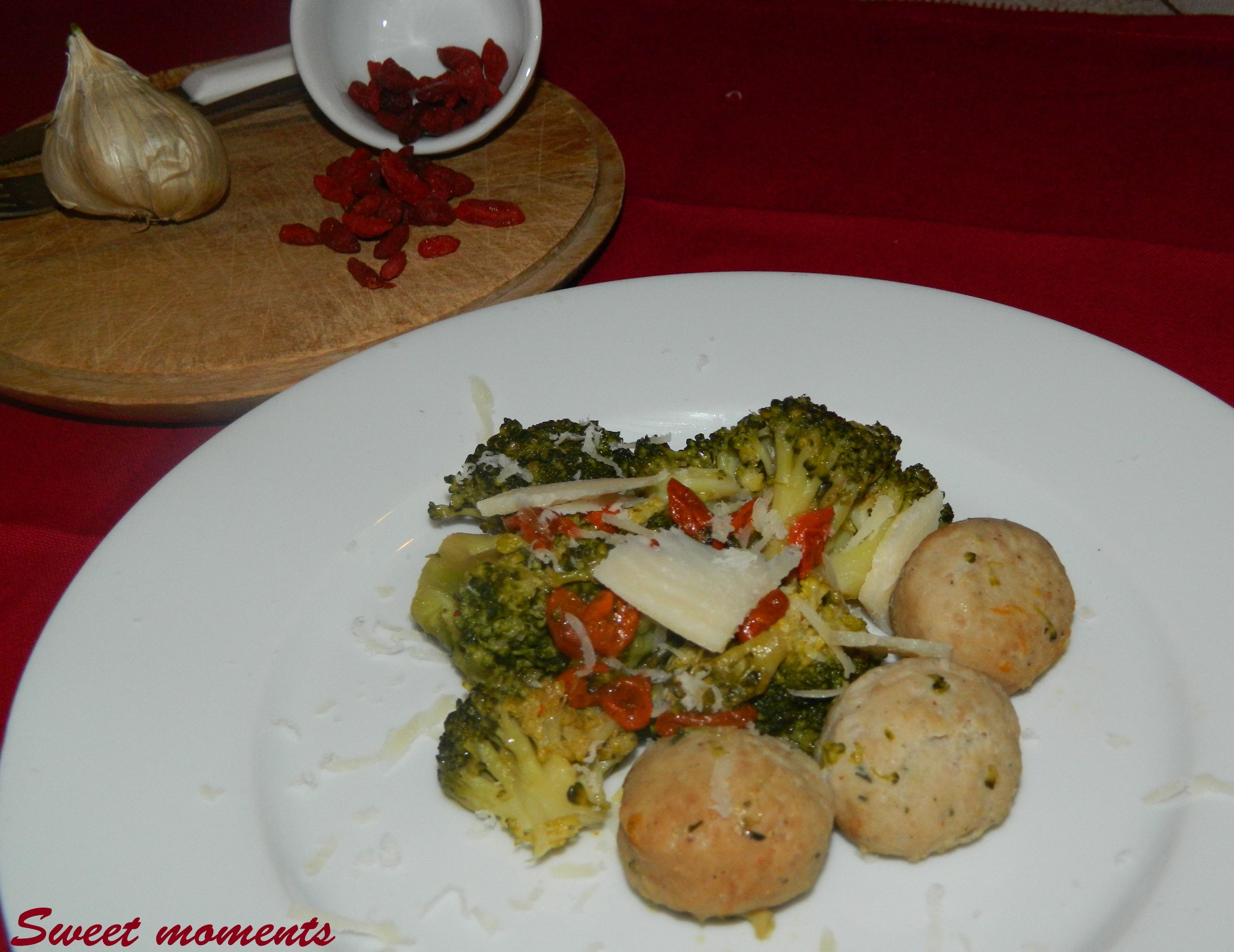 broccoli con polpettine