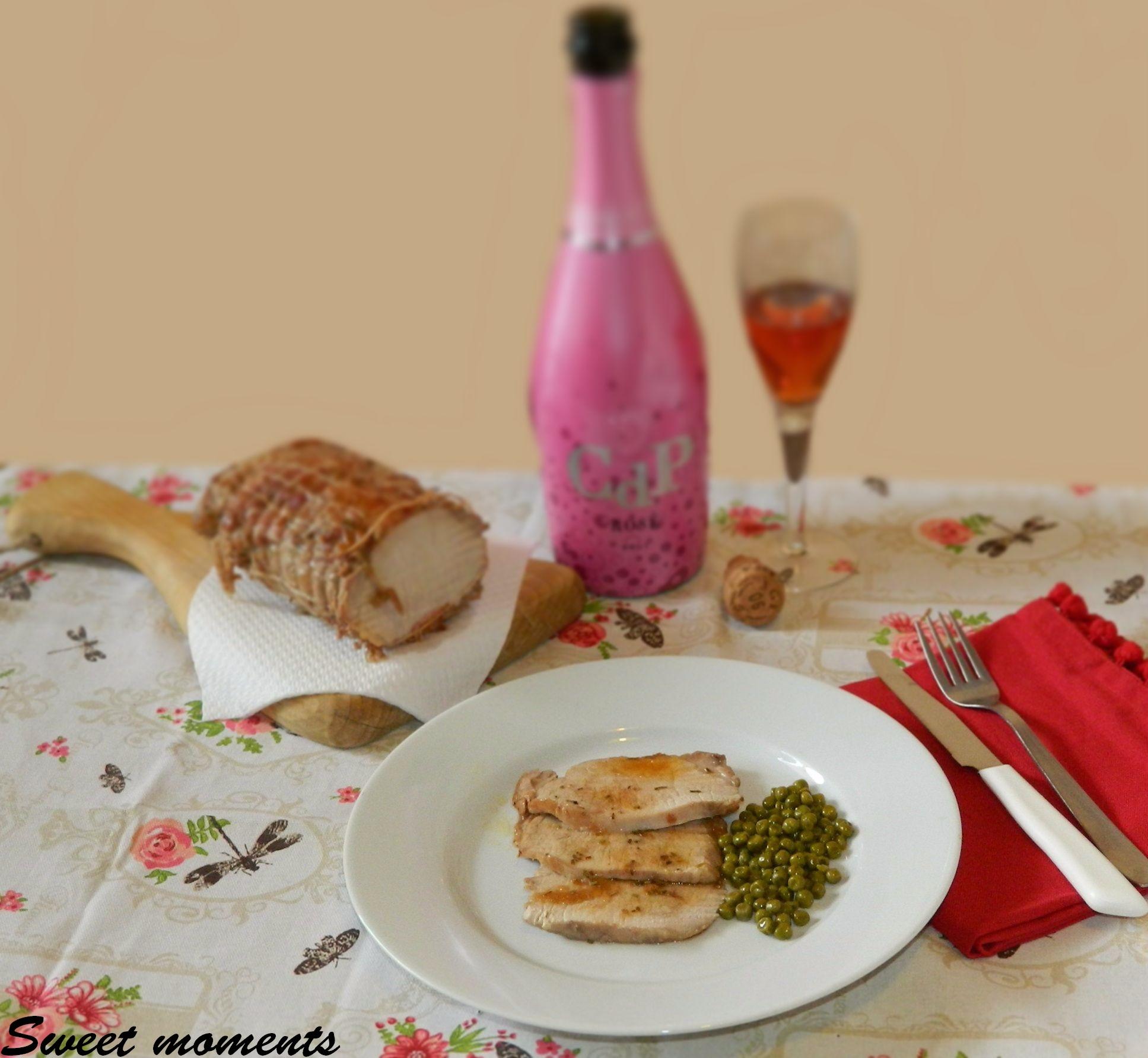 Arista con pancetta e spumante Rosè
