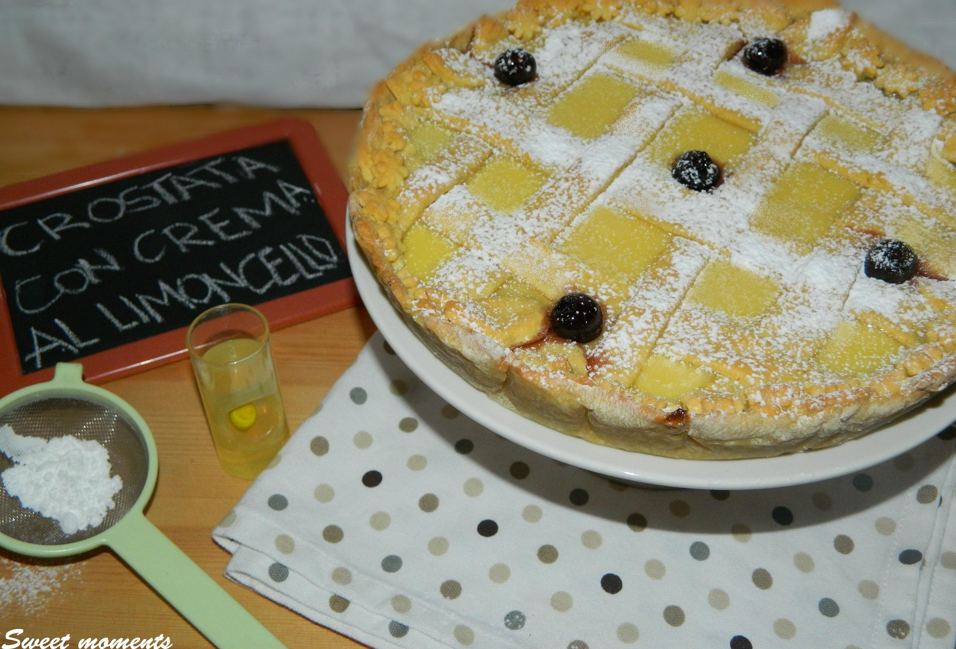 Crostata con crema pasticcera al limoncello