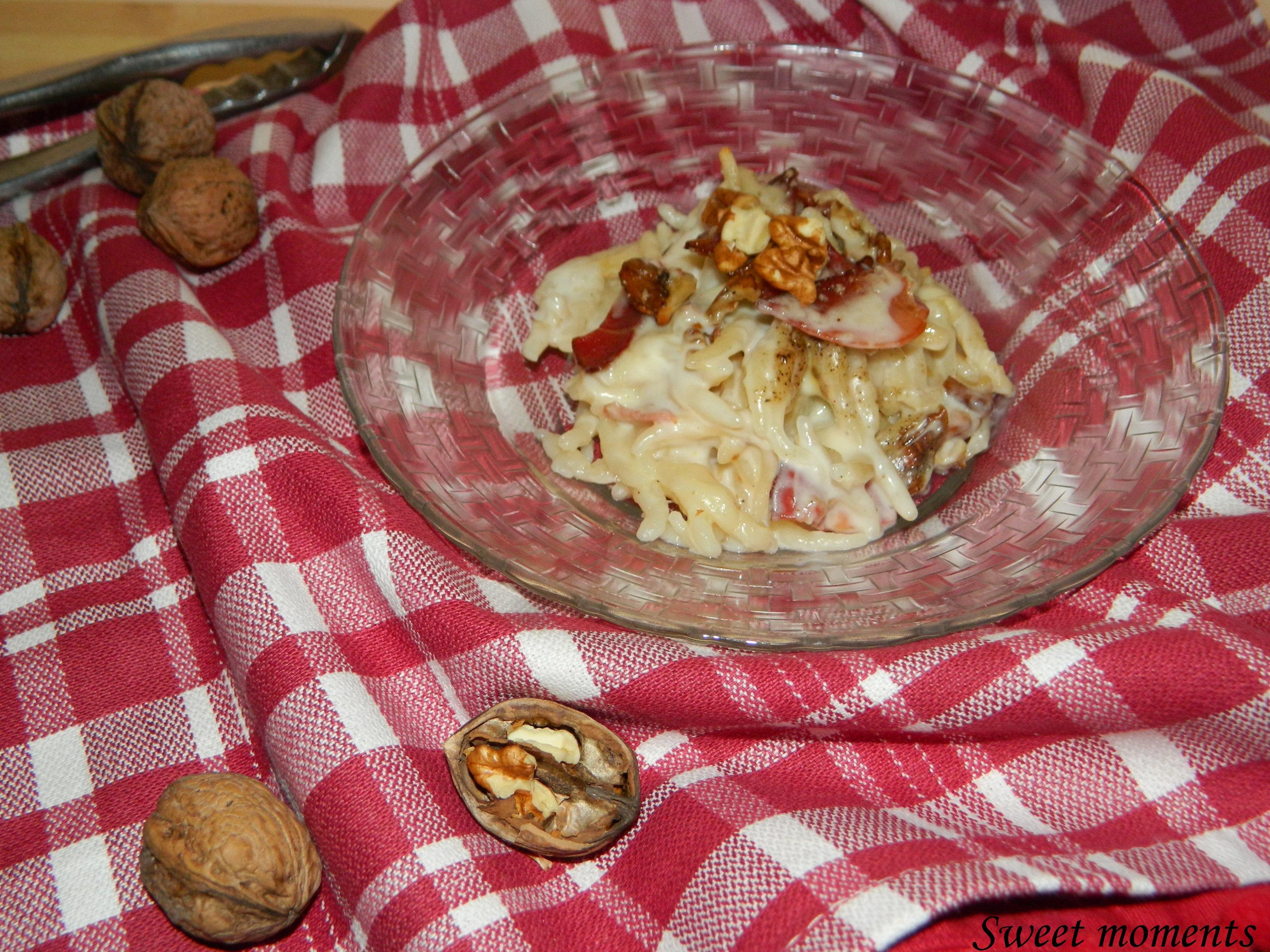 Trofie al forno con speck e noci sweet moments ricette - Diversi tipi di pasta ...