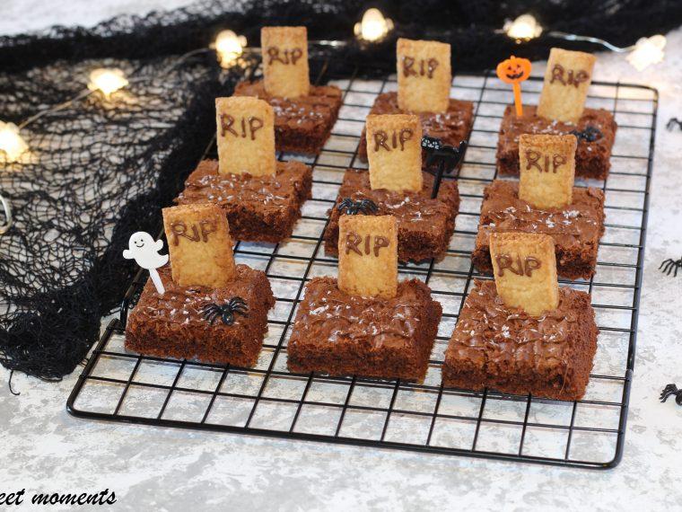 Brownies cimitero al cioccolato e cocco