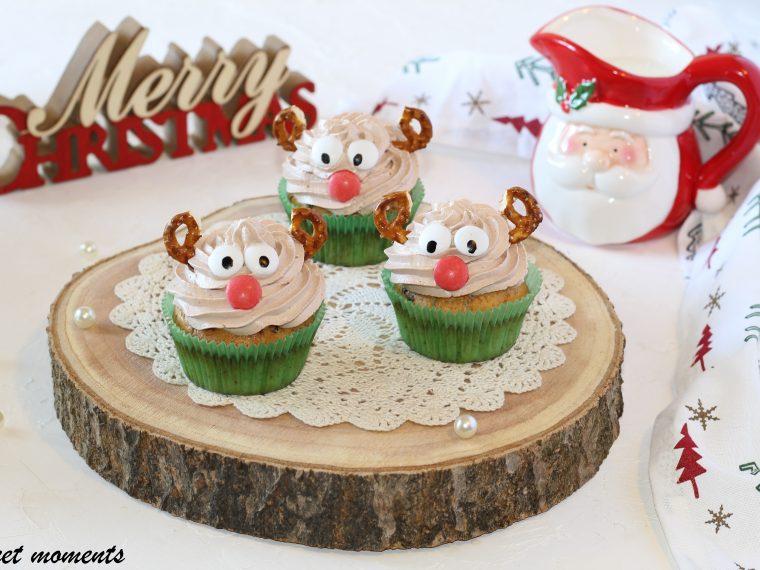Rudolph cupcake con cioccolato fondente