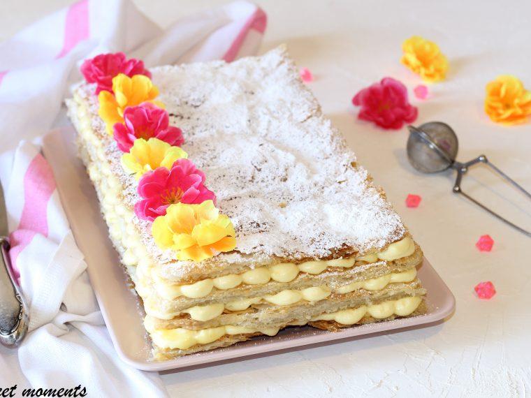 Torta millefoglie crema e amarene