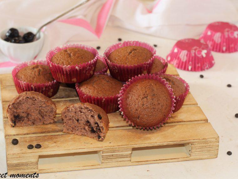 Muffin al succo di amarena