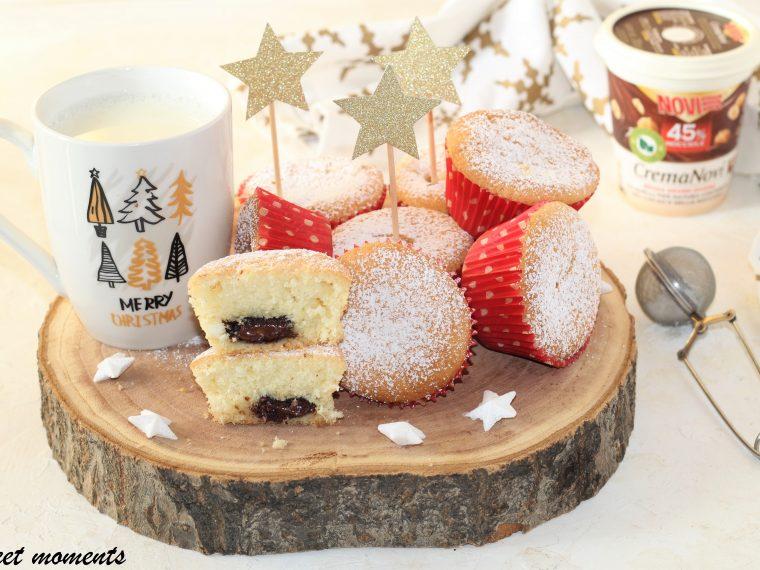 Muffin alla panna con cuore cremoso
