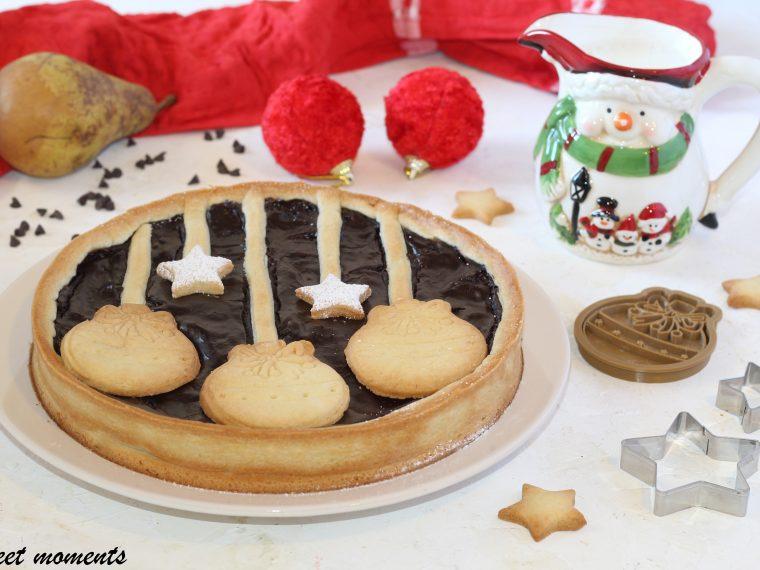 Crostata con cioccolato e pere