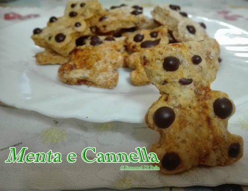 Ricetta biscotti orsetti vegani