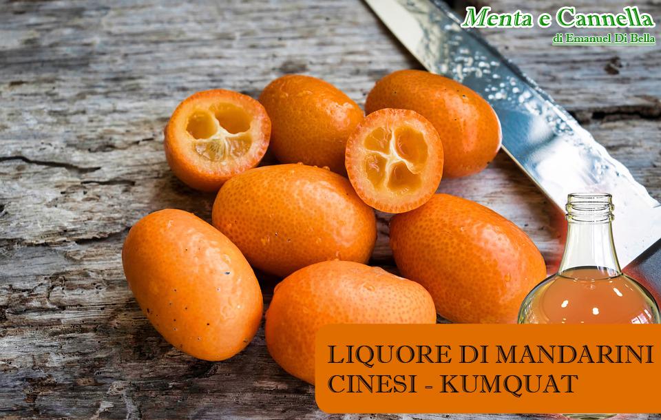 liquore di mandarini cinesi kumquat