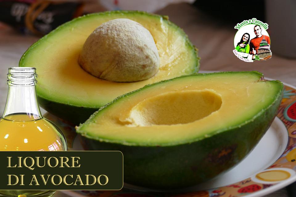 ricetta liquore di avocado
