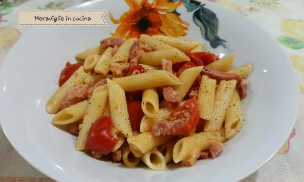 Pasta pancetta e pomodoro