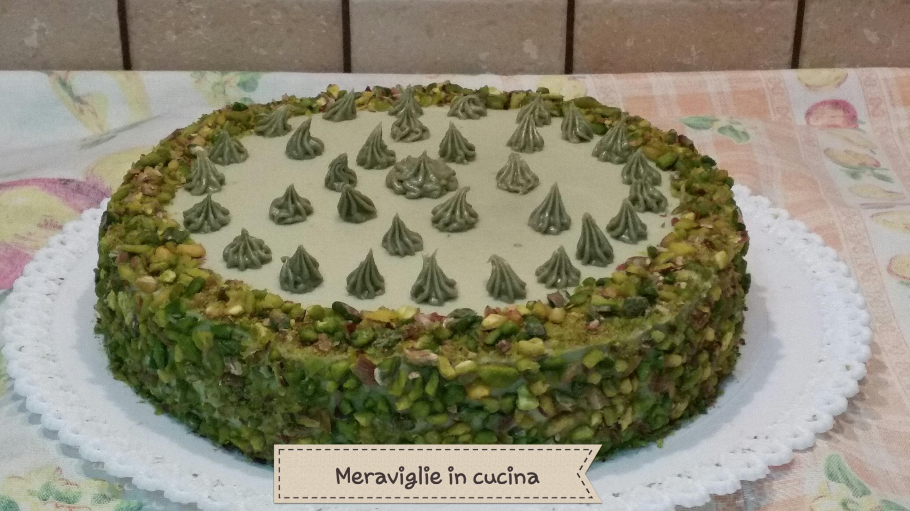 torta mascarpone e crema al pistacchio