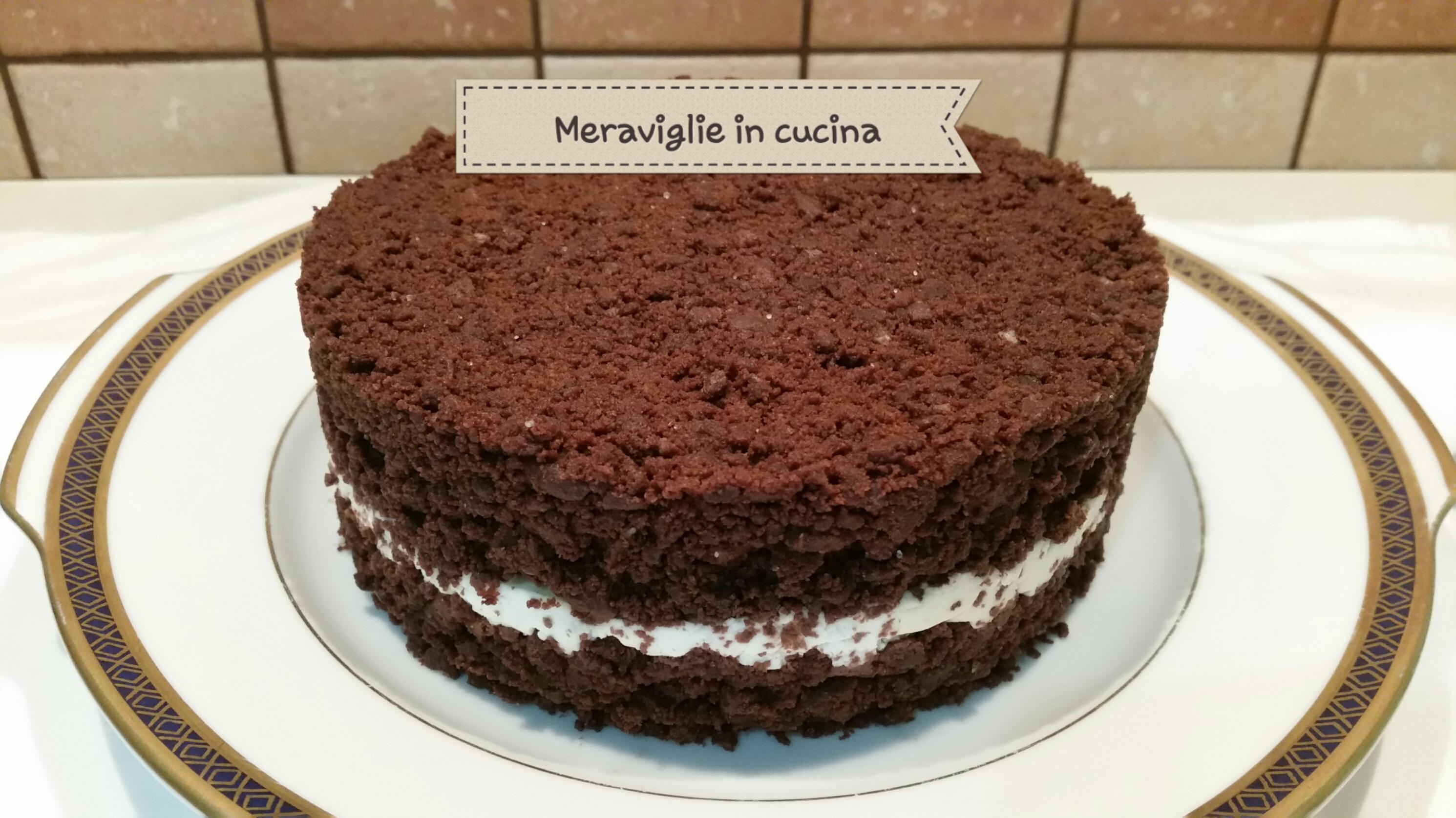 Sbriciolata cioccolato e mascarpone senza cottura