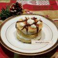 Millefoglie di pandoro con mascarpone cocco e nutella