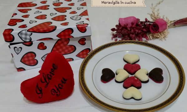 Cioccolatini di San Valentino con mandorle