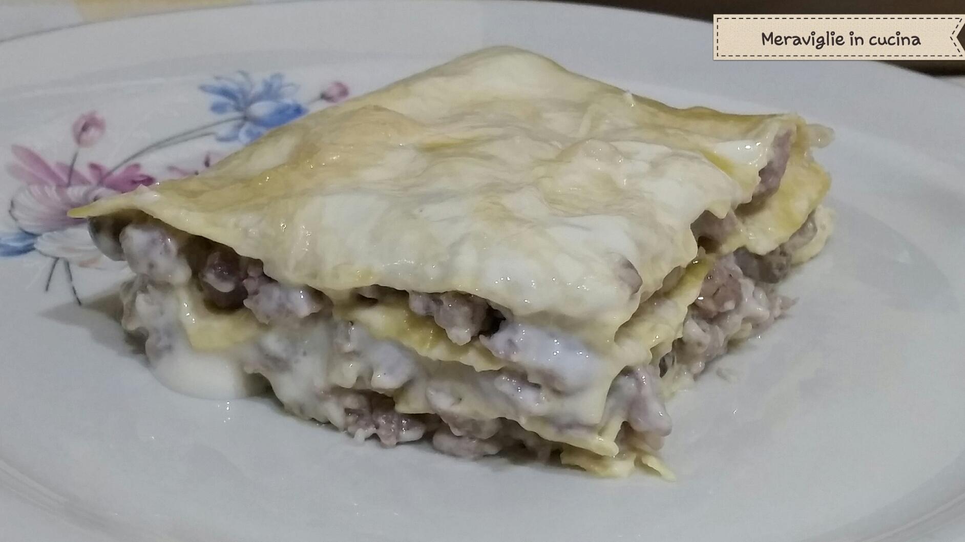 lasagne salsiccia e funghi