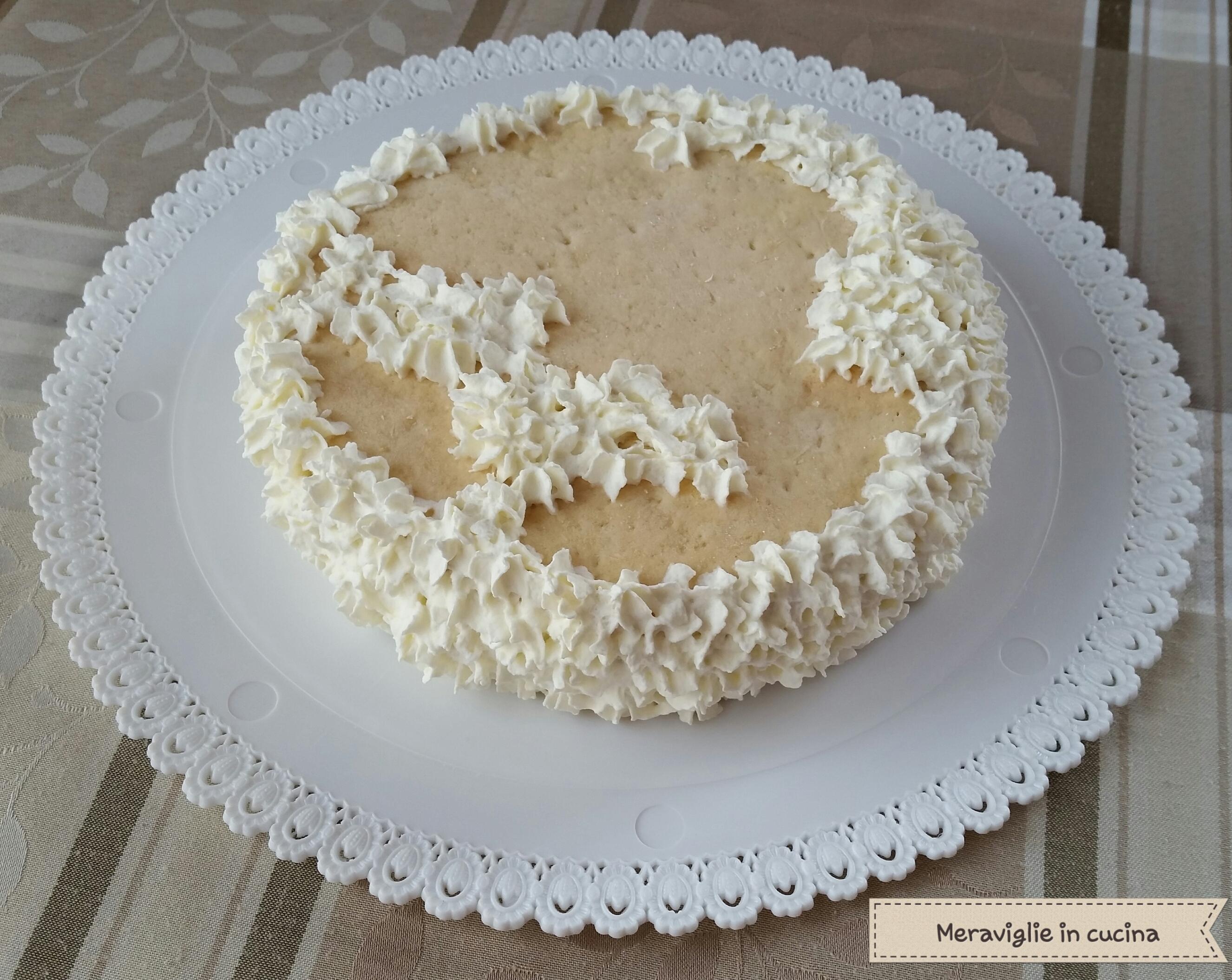 Torta gelato biscotto cioccolato e panna