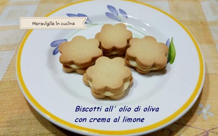 Biscotti all' olio di oliva con crema al limone