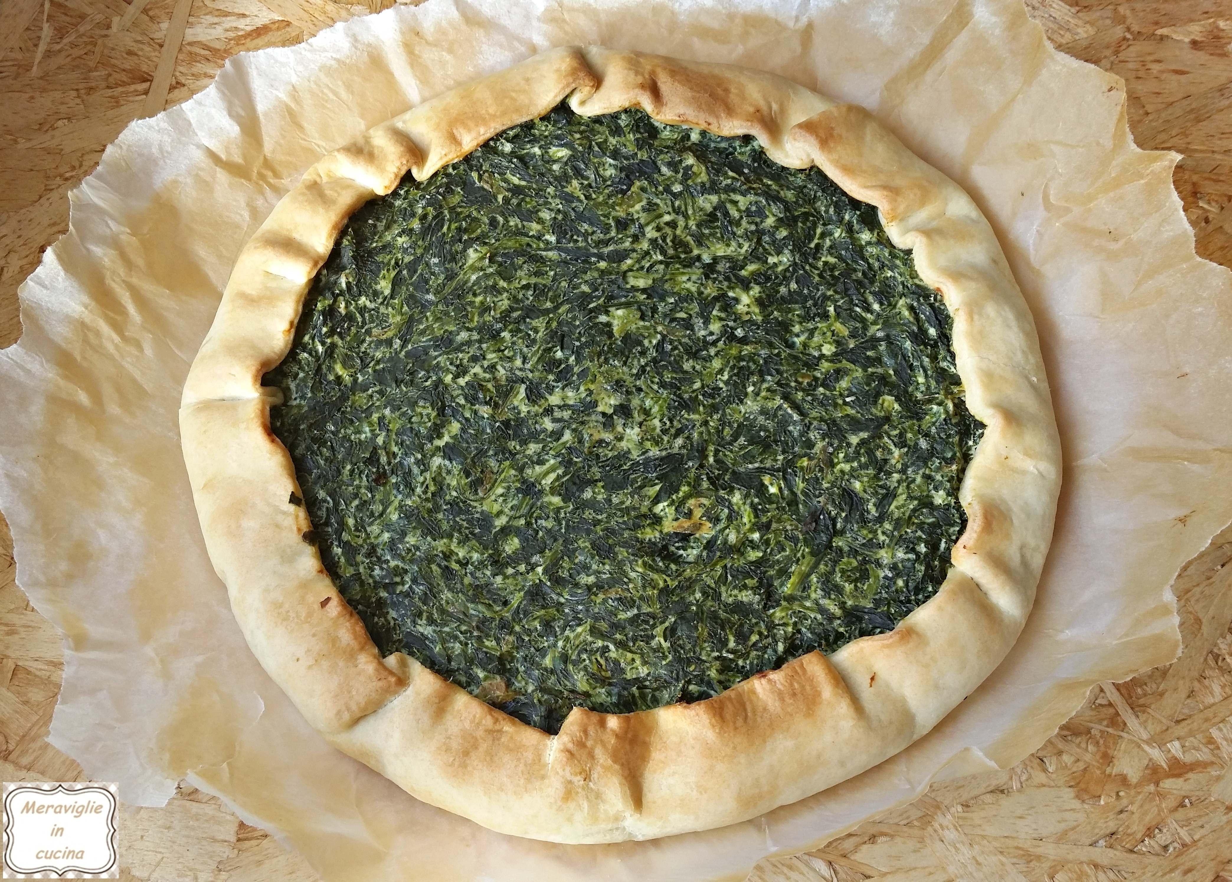 Torta spinaci e ricotta
