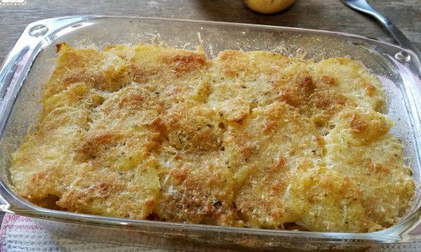 Baccalà con patate al forno
