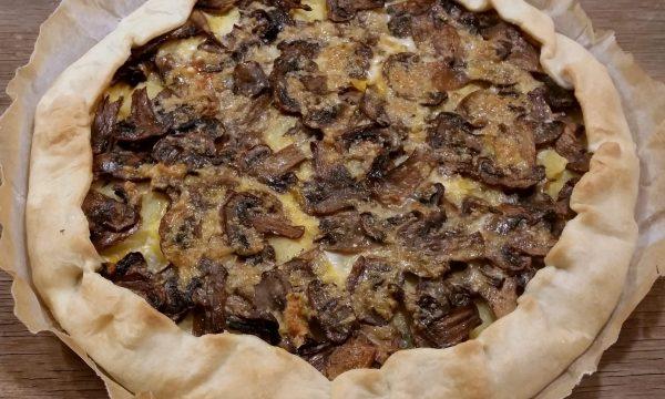 Torta funghi e patate