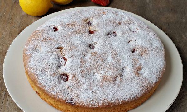 Torta fragole e limone