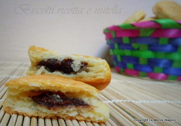 biscotti ricotta e nutella