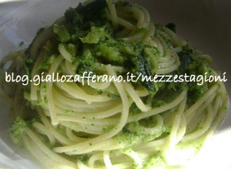 Spaghetti con pesto di broccoli, ricetta