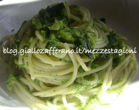Spaghetti con pesto di broccoli