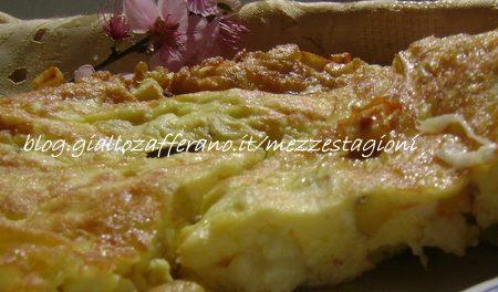 Frittata di patate e formaggio filante -Ricetta veloce-