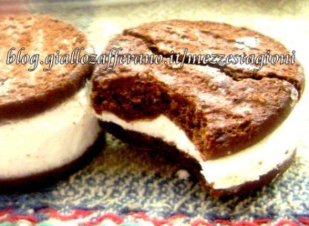 Biscotti gelato con panna e nutella| Ricetta veloce senza forno