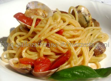 Spaghetti vongole e pomodorini  Ricetta di mare