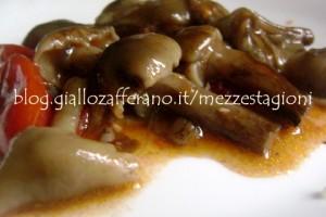 Funghi chiodini con pomodorini  Ricetta contorno di funghi 