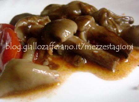 Funghi chiodini con pomodorini |Ricetta contorno di funghi|