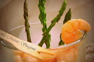 Insalata di asparagi e gamberetti   Ricetta light