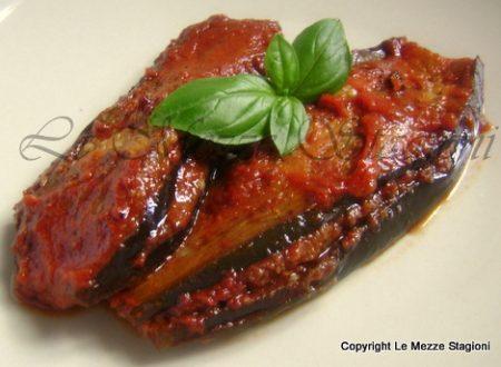 Melanzane ripiene a fette, ricetta vegetariana