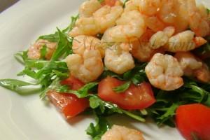 Insalata gamberetti e rucola, ricetta light