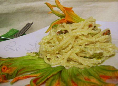 Spaghetti fiori di zucca e ricotta, ricetta
