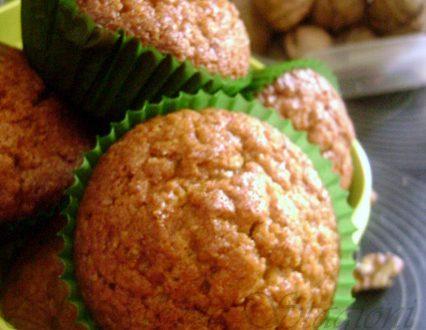Muffin alla zucca e noci, ricetta dolce